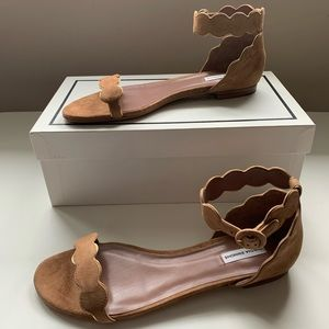 Tabitha Simmons brown suede sandals
